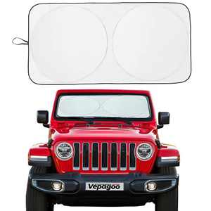 Veapgoo Car Windshield Sun Shade Window Cover Shade Interior Sun Protection 60inX21in(Best for Jeep), UV Rays and Sun Heat Protector, Keep The Car Interiors Cool, Prevents Dashboard Fade and Crack.