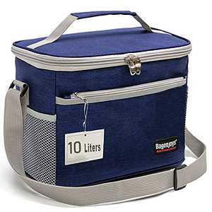 Lunch Bag 10L,Insulated Lunch Box for Men/Women,Reusable Cooler Lunch Bags for Adults/Kids,Leakproof Lunch Bag Box with Adjustable Shoulder Strap for Office School Picnic Beach-Blue…