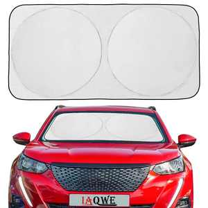 IAQWE Windshield Sun Shade 75x37in Blocks UV Rays Foldable Sun Visor Shield Sunshade with Automotive Interior Protection for Most Vehicle SUV Truck Pickup, 1 Pack (X-Large)