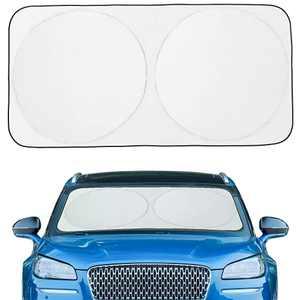 """Car Windshield Sun Shade Cover Car Window Sun Shades for Front Window Foldable Retractable Sun Shield Block 99% UV Rays Sun Heat, X Large 75""""×37"""""""