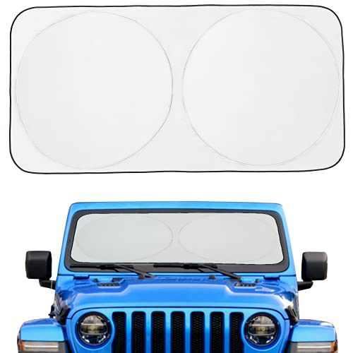 """Car Windshield Sun Shade Cover Car Window Sun Shades for Front Windshield Window Foldable Retractable Sun Shield Block 99% UV Rays Sun Heat, X-Small 59""""×21"""""""