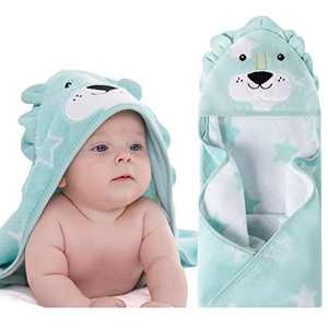 Newborn Baby Bath Hooded Towel 100% Cotton, Soft Ultra Absorbent and Hypoallergenic Towel for Infant Toddler Boys Girls Perfect Gifts for newborn