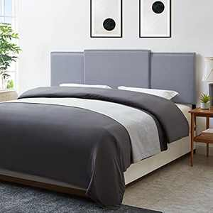 """KOZYSPHERE Upholstered Headboard, Adjustable Sizes 3 in 1 Headboards for Queen/King/Full Size Bed, Modern Breathable Fabric with Nailheads, Adjustable Height from 37"""" to 49"""", Grey Linen"""