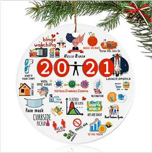 Beewarm Christmas Ornaments 2021 for Christmas Tree, Lifetime Replacement