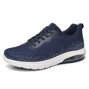 SIRUIYUAN Women's Air Tennis Running Sneakers Lightweight Breathable Mesh Athletic Cushion Gym Workout Hiking Jogging Basketball Fashion Shoes (Navy, Numeric_6)