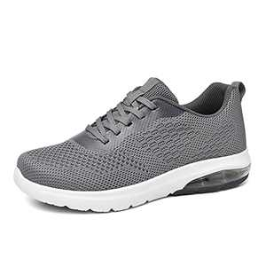SIRUIYUAN Women's Air Tennis Running Sneakers Lightweight Breathable Mesh Athletic Cushion Gym Workout Hiking Jogging Basketball Fashion Shoes (Darkgrey, Numeric_8)