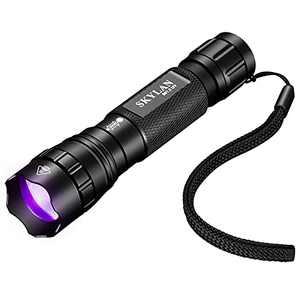 SKYLAN Led UV Mini Flashlight Black Light, 395nm Blacklight Ultraviolet Pocket Flashlights Powered by18650 Rechargeable Battery for Dog Urine, Pet Stains & Bed Bug
