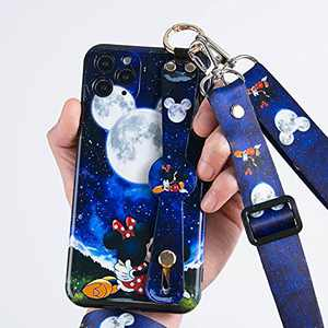 iPhone 12 Pro Case,Cute Cartoon Personalized Full Protective Phone Cover,Ajust Detachable Anti-Lost Lanyard Strap Perfect for Daily use,Work,Outdoors. for 12 Pro 6.1 inch