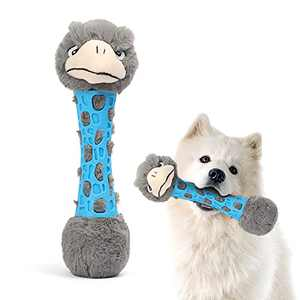 boqii Durable Plush Dog Toys, Squeaky Dog Toys Built-in 3 Squeakers, Interactive Puppy Plush Dog Toys for Small, Medium Dogs