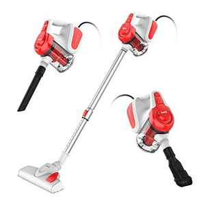 INSE Stick Vacuum Cleaner, 18000 Pa Powerful Corded Vacuum Cleaner with High Density HEPA Filtration, 3 in 1 Handheld Vacuum Cleaner with Retractable Tube for Hard Floor, Pet Hair