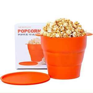 Microwaveable Silicone Popcorn Popper The Original Meecre Microwave Popcorn Popper, Collapsible Microwave Popcorn Maker Bowl Snack bowl