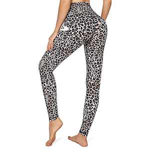 UUE High Waist Women Seamless Leggings Workout Gym Yoga Pants Soft Tummy Control Strechy Leggings for Workout -Leopard