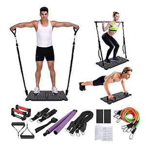 O-CONN Portable Home Gym with Ρυsh-υp Stand,Handles, Resistance Bands, Pilates Stick, Door Anchors, Multifunctional Full Body Workout Home Workout Equipment, Burn Fat Fitness