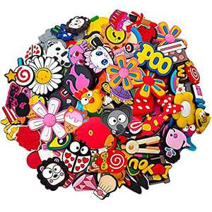 25 30 105Pcs Random Shoe Charms Fits for Shoes and Bags, Shoe Pins Shoe Decoration Charms for Kids/Adults, Party Favor Gifts
