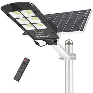 300W Solar Street Lights Outdoor, Dusk to Dawn Solar Led Outdoor Light with Remote Control, 6500K Daylight White Security Led Flood Light for Yard, Garden, Street, Playgroud