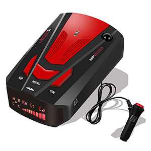 Radar Detector for Cars,2021 Newest Laser Radar Detectors, Voice Prompt Speed, Vehicle Speed Alarm System, Led Display, City/Highway Mode, Car 360 Degree Automatic Detection, FCC (Red)