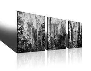 zengdannian White Canvas Wall Art Bathroom Decor Abstract Prints Paintings Artwork Kitchen Living Room Home Decoration Mountain Forest Pictures Modern Bedroom Office PosterWatercolor Painting