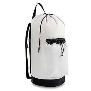 Sophchum Backpack Laundry Bag with Strap 65L Nylon Hanging Laundry Bag for College Essentials Machine Washable Drawstring Laundry Bag with Handles