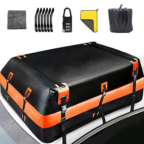 EnjoyDri Rooftop Cargo Carrier,11 Cubic Feet 100% Waterproof Car Roof Bag for All Cars & Automobiles with or Without Roof Rack.