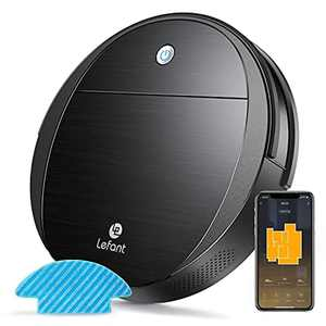 Lefant M213 Robot Vacuum Cleaner with Mop, 2200Pa Strong Suction and Ultra-thin Robotic Vacuum, Self-Charging, Compatible with Alexa and Google Assistant, Ideal for Pet Hair, Carpets, Hard Floors