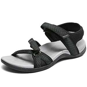 DUINN Womens Hiking Sandal Stylish Sport Sandal Straps with Adjustable Hooks with Arch Support Beach Vacation Casual Camping