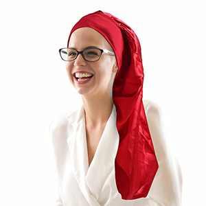 Sleeping Cap Satin Sleeping Cap for Women Men Silk Sleep Cap Night Satin Cap Silk Sleep Cap Hat Bonnet Sleeping Red
