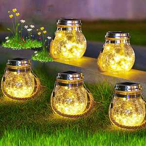 Solar Lanterns Outdoor Waterproof Hanging 2 Pack Patio Decor Solar Lights 30 LED Solar Powered Lanterns Dusk to Dawn Auto On/Off Garden Decor for Pathway Yard Halloween Christmas Decorations Outdoor