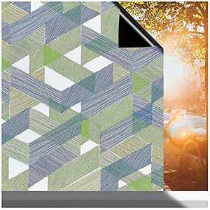 Total Blackout Window Film Heat Control Anti UV Window Tint Privacy Window Film 100% Light Blocking Film for Home (Green, 17.3 x 39.5 Inches)