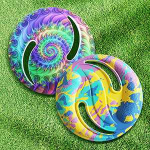 2 Pack Tie Dye Frisbee Discs Set, Flying Frisbee Outdoor Toys for Kids Ages 4-8