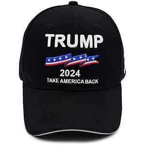 Trump 2024 Hat - Donald Trump for President 2024 Take America Back MAGA Adjustable Unisex Embroidery Baseball Cap Dad Hat Black
