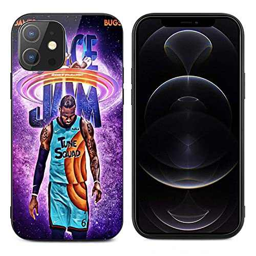 Phone Case Compatible with iPhone 12/iPhone 12 Pro/iPhone 12 Mini/iPhone 12 Pro Max [Tempered Glass Back],Basketball Theme,Shockproof Dust-Proof IP12 Pro-6.1