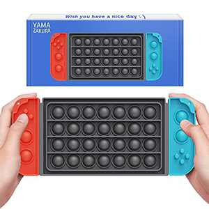 Yamazakura Switch Pop Fidget Toy, Push Bubble Sensory Toy Pack with Keychain Controller BPA Free Silicone Squeeze for Boys Toddlers Autistic Children Stress Relief