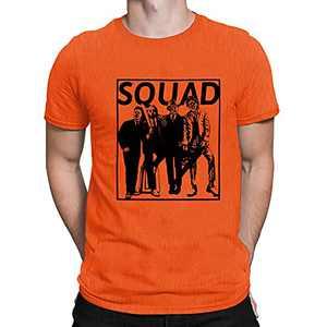 Squad Shirt for Men Halloween Hocus Pocus Letter Print T-Shirt Fall Funny Short Sleeve Tee Top (Bright Orange, Medium)