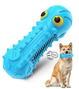 Dog Chew Toys, Dog Toys for Aggressive Chewers Medium Large Dogs Durable Squeaky Dog Toys Training and Teeth Cleaning Dog Chew Toy for Dogs Indoor Outdoor Home Interactive Dog Toy