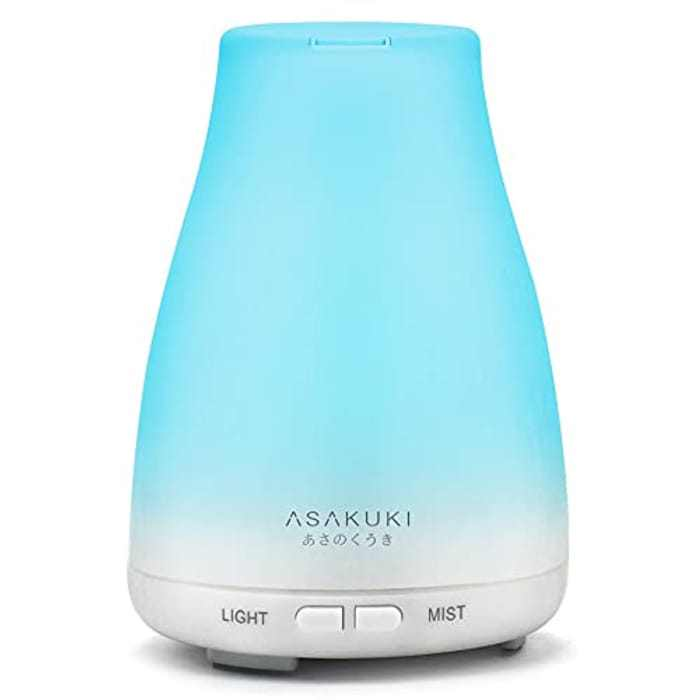 ASAKUKI 100ml Essential Oil Diffuser Ultrasonic Aromatherapy Diffuser Cool Mist Humidifier Waterless Auto Shut-Off for Bedroom Office Yoga