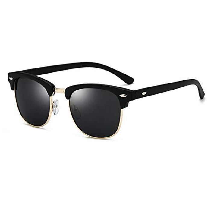 Mens Semi-Rimless Polarized Sunglasses Half Frame UV400 Protection Sunglasses Mirrored Eyewear Sun Glasses with Case for Women