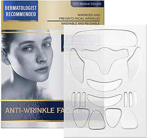 Face Wrinkle Patches, Facial Wrinkle Smoothing Patches Anti Wrinkle Face Strips,16 PCS Facial Wrinkle Remover Pads forForehead Around Mouth and Upper Lip Strips Effective for Men & Women