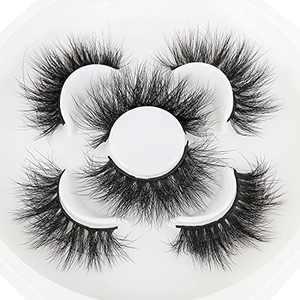 20 mm Mink lashes Faux 3D False Eyelashes Dramatic Long Thick Cross Lashes 100% Handmade Mink Fur Cruelty-Free Fluffy Fake Eyelashes … … (S046)