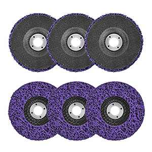 VIGRUE 6 Pack Stripping Wheel Strip Discs for Angle Grinders, Rust Welds, Oxidation, Paint Cleaning and Removing (4'' x 5/8'')