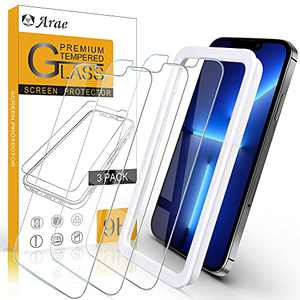 Arae Screen Protector for iPhone 13 Pro Max, HD Tempered Glass Anti Scratch Work with Most Case, 6.7 inch, 3 Pack