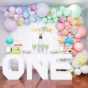 179Pcs Pastel Balloon Garland Arch Kit with Gold Confetti Balloons Keaibuding Macaron Latex Balloon and Foil Helium Balloons Set for Wedding Birthday Balloons Baby Shower Decorations