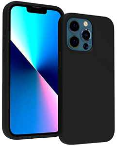 """CUCELL Compatible with iPhone 13 Pro Case,Liquid Silicone Shockproof Phone Case with Soft Anti-Scratch Microfiber Lining,Heavy Duty Protective for iPhone 13 Pro 6.1""""(2021)-Black"""