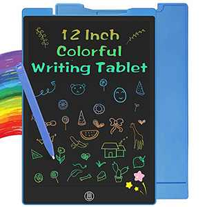 WRIYES 12 Inch LCD Writing Tablet Doodle Pads Toys for 3 4 5 6 7 8 Year Old Boys, Educational Learning Drawing Pad Colorful Gifts for Kids Age 3-8(Blue)