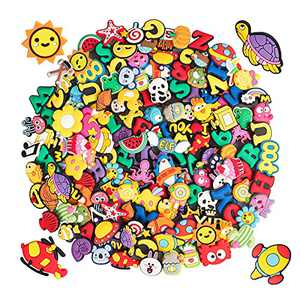 100pcs PVC Croc Charms for Shoe Decoration and Boys Girls Party Favors Birthday Gifts