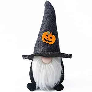 Halloween Gnome, Halloween Decorations, Scandinavian Nordic Spooky Gnome Yule Tomte Nisse Handmade, Halloween Ornaments Decor for Home, Black