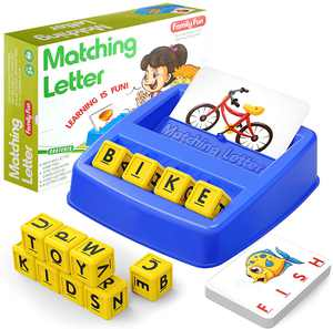 HahaGift Educational Toys for 3 4 5 Year Olds Boys Gifts, Matching Letter Game for Boys Toys age 3 4 5, Letter Recognition Spelling and Reading Learning Montessori Toys for 2 3 Year Olds