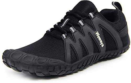 Men Women Barefoot Trail Running Shoes Walking Camping Trekking 5 Toes Ladies Arch Support Workout Sneaker Black Women Size 15 Men Size 13