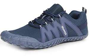 Trail Running Minimalist Barefoot Men Women Tennis Shoes Jogging Wide Gym Workout Trekking Toes Five Fingers Sneakers Blue Women Size 11 Men Size 10
