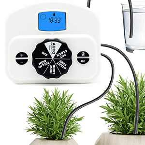 Upgraded Automatic Plant Waterer - Auto Indoor Plant Watering Drip System for 10 Potted Plants - Programmable Water Timer (USB & Battery) - Automatic Drip Irrigation Kit for Houseplants Self Watering…
