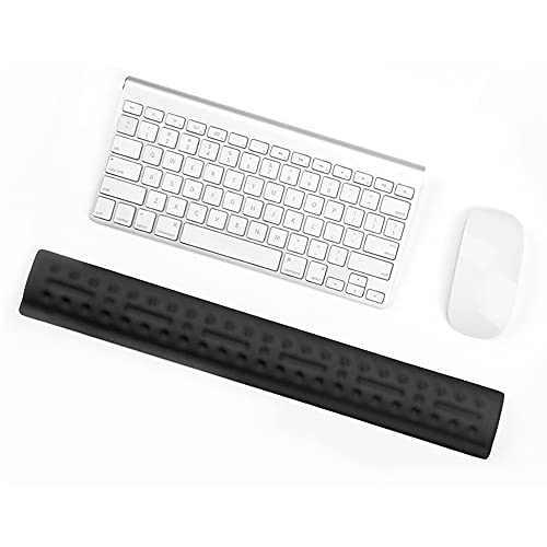 YOKELLMUX Keyboard Wrist Rest,Memory Foam,Ergonomic Design,Anti-Slip ,for Keyboard Suit for Computer, Laptop, Office, Pc Gaming ,Relieve Typing Hand Pain,Black